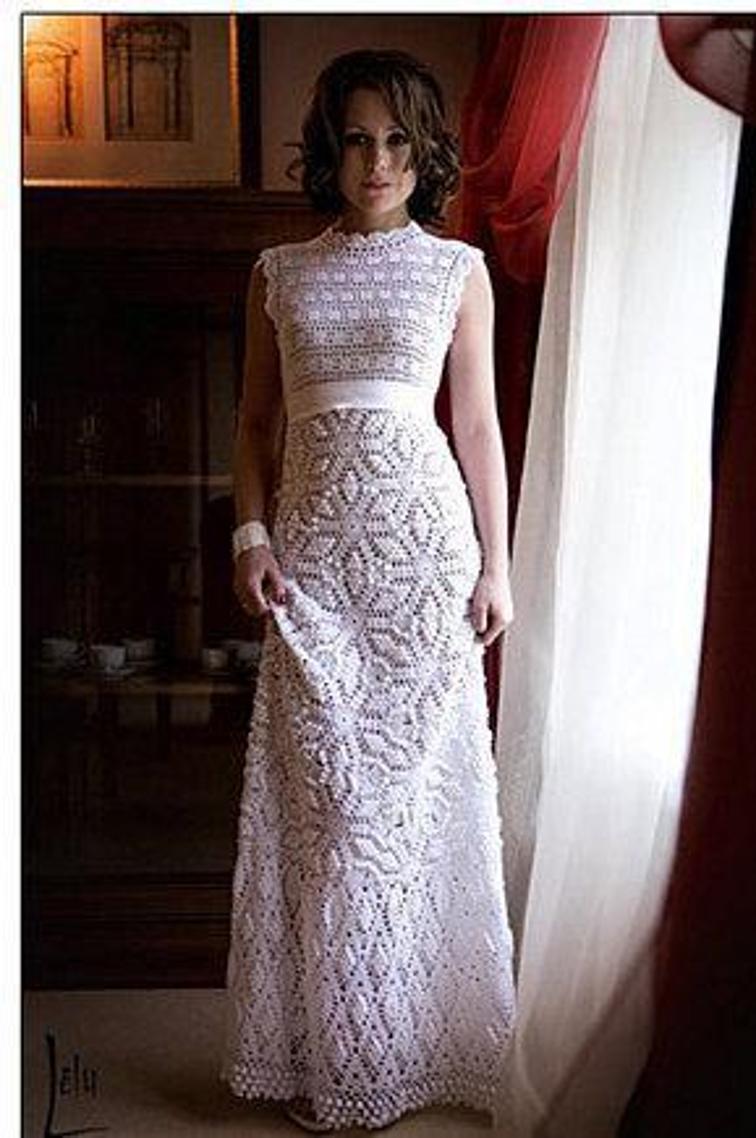 crochet wedding dress 1 / 5 sdhfogp