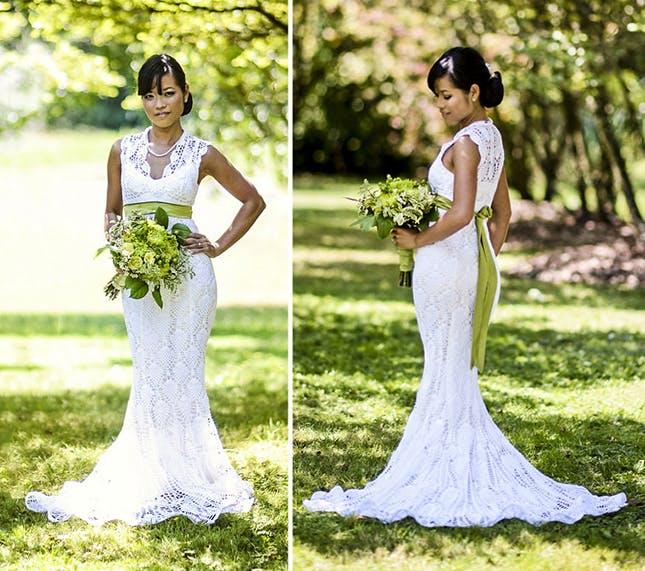 crochet wedding dress 15 wedding dresses you wonu0027t believe are crocheted | brit + co vcnmvfj
