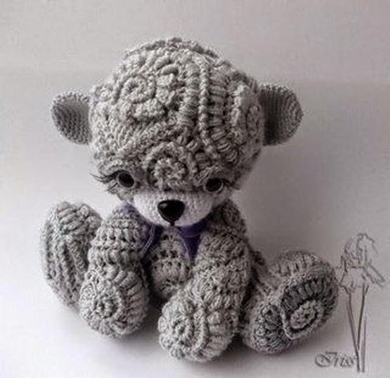 cute freeform crochet teddy. lesson. ncbmmxe