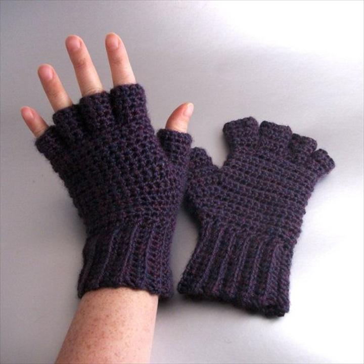 cute plum mist heather half finger crochet gloves uhzeiww wvzbcpd