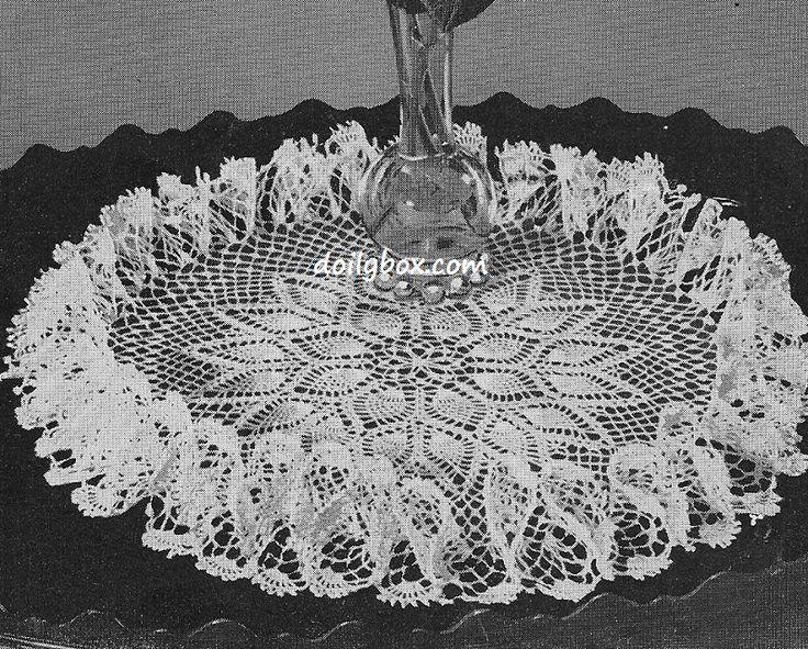 doily patterns free crochet - pineapple ruffle doily pattern jzcyacb