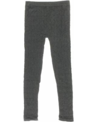 dream star girls big kid cable knit leggings, size: 7-16, charcoal ffulynd