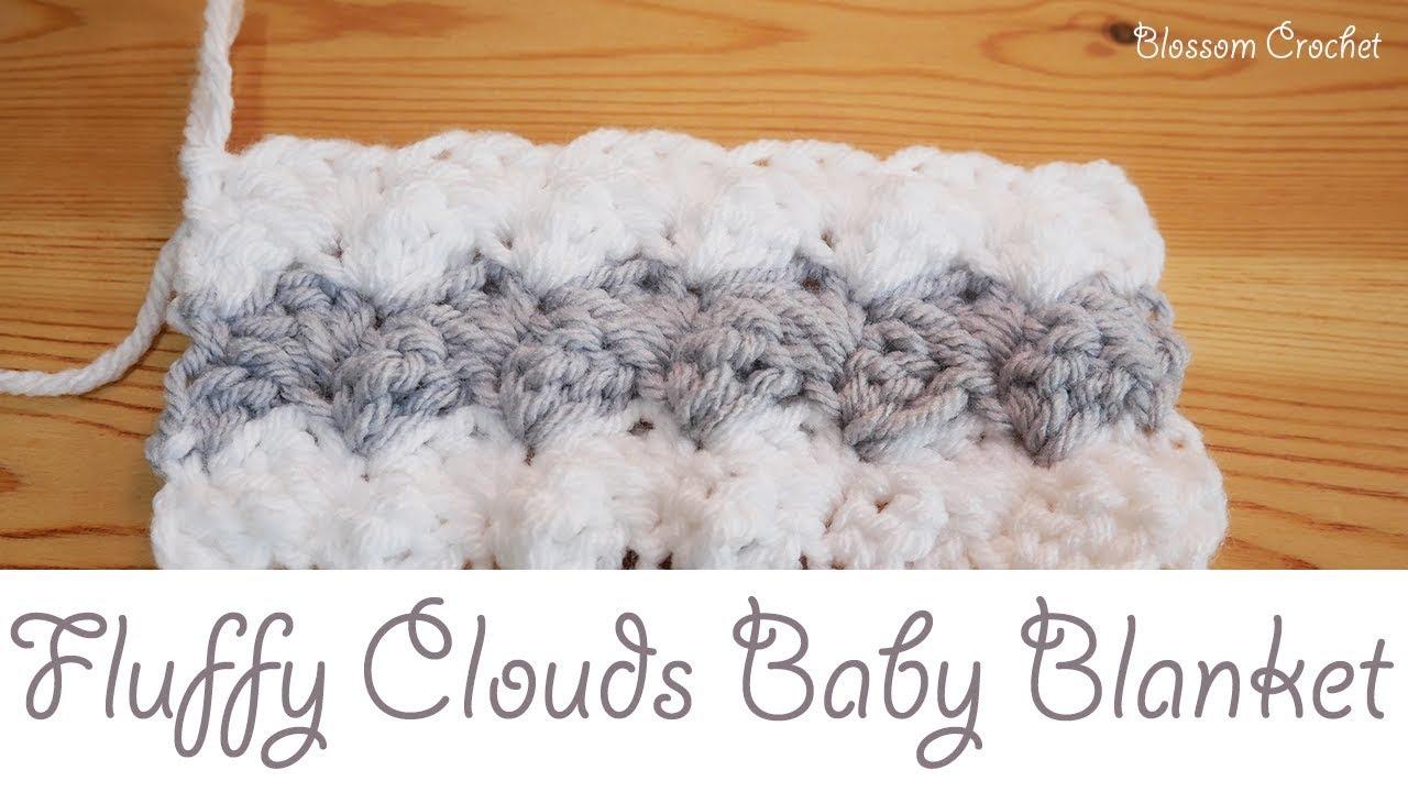 easiest crochet baby blanket - fluffy clouds ybwfeli