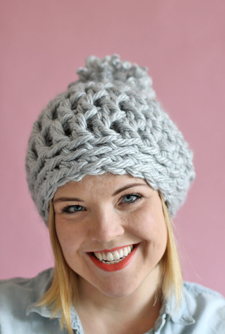 easy chunky crochet beanie - a 30 minute hat! free pattern from persia xsdnlvd