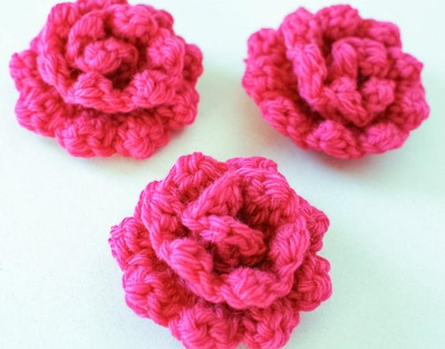 easy crochet flower crochet flower pattern - rose mbxhdoo