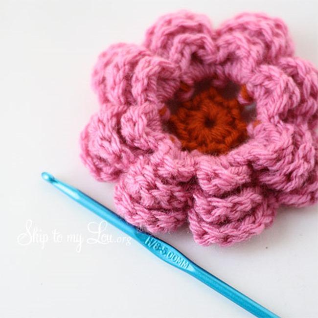 easy crochet flower crochet flower pattern - skip to my lou tdglucg