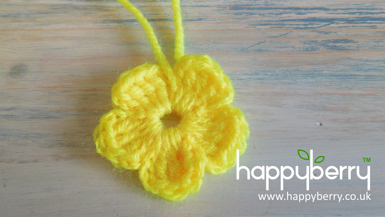 easy crochet flower (crochet) how to - crochet a simple flower version 2 - absolute beginners ijqbhlq