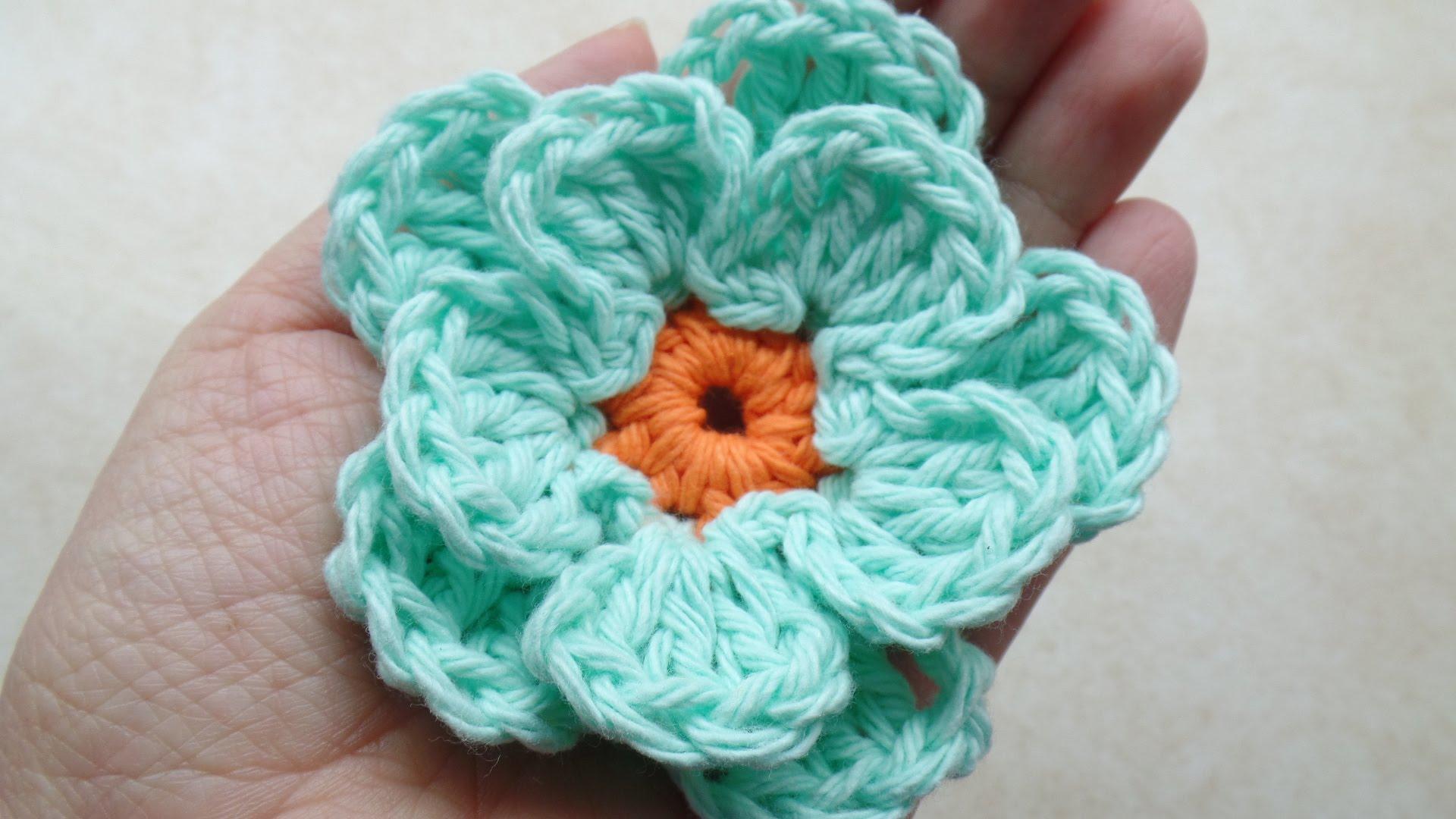 easy crochet flower crochet how to #crochet easy flower #tutorial #217 learn crochet - youtube rkczbvh