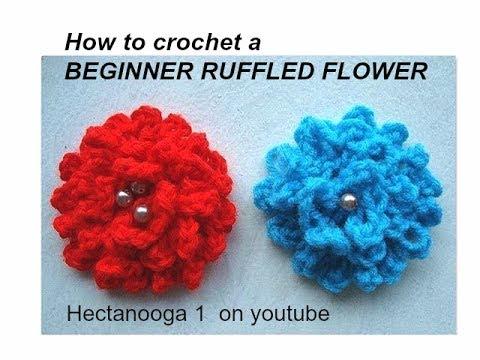 easy crochet flower easy ruffled beginner crochet flower. rfouebj