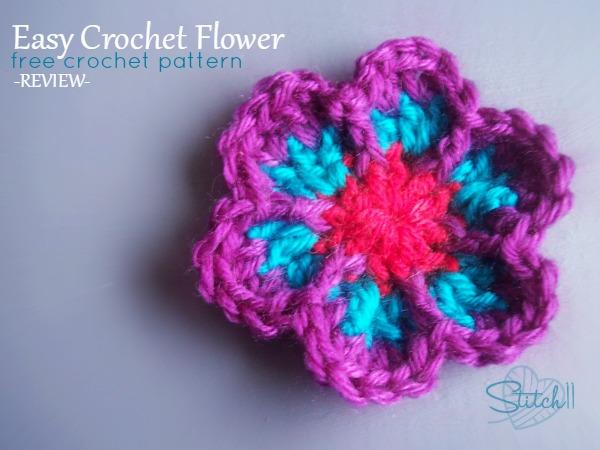 easy crochet flower - free crochet pattern - review losjcqk