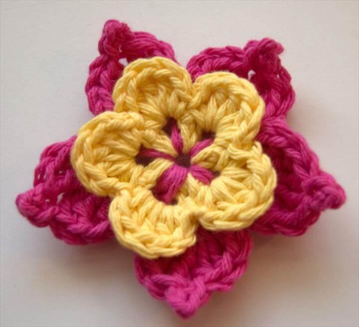 easy crochet flower: hwovtoo