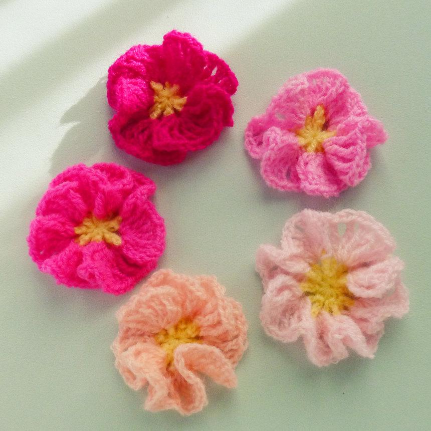 easy crochet flower learn to crochet flowers qpcxvdf