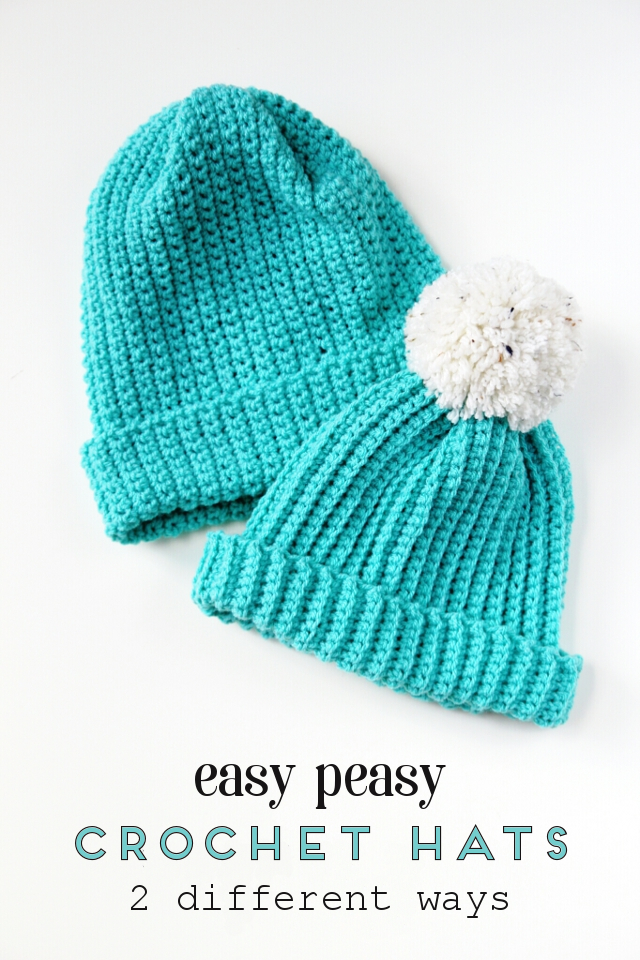easy crochet hat make these easy diy crochet hats - 2 different ways using the single uhxpsic