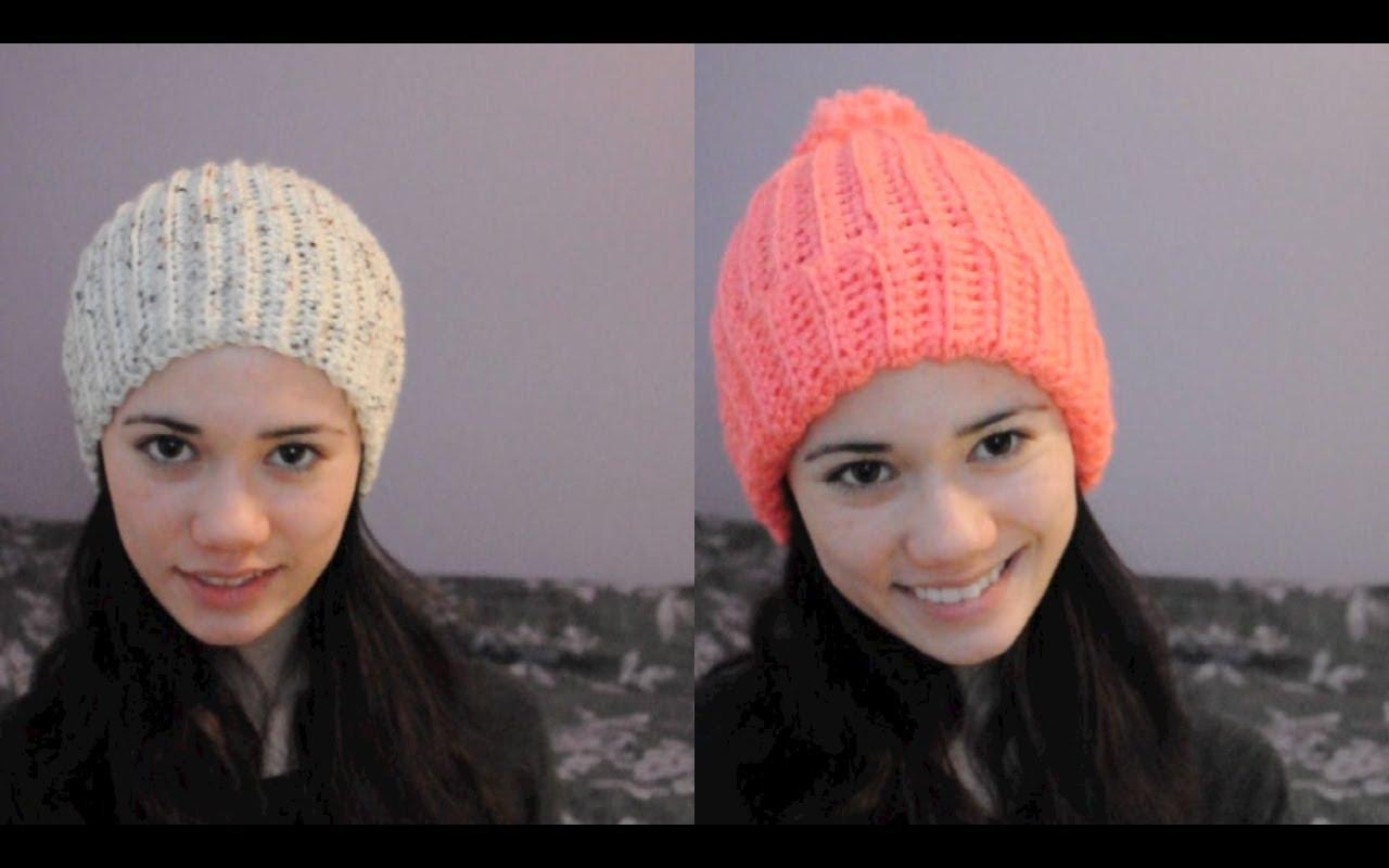 easy crochet hat super easy ribbed crocheted hat/beanie - youtube mgrmcdj