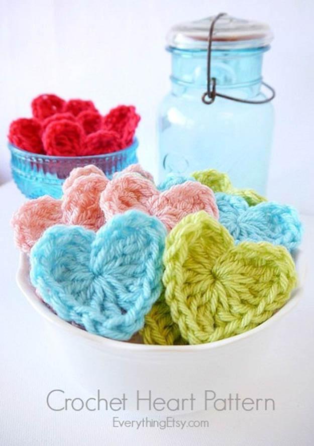easy crochet heart pattern | 17 amazing crochet patterns for beginners ybqboma