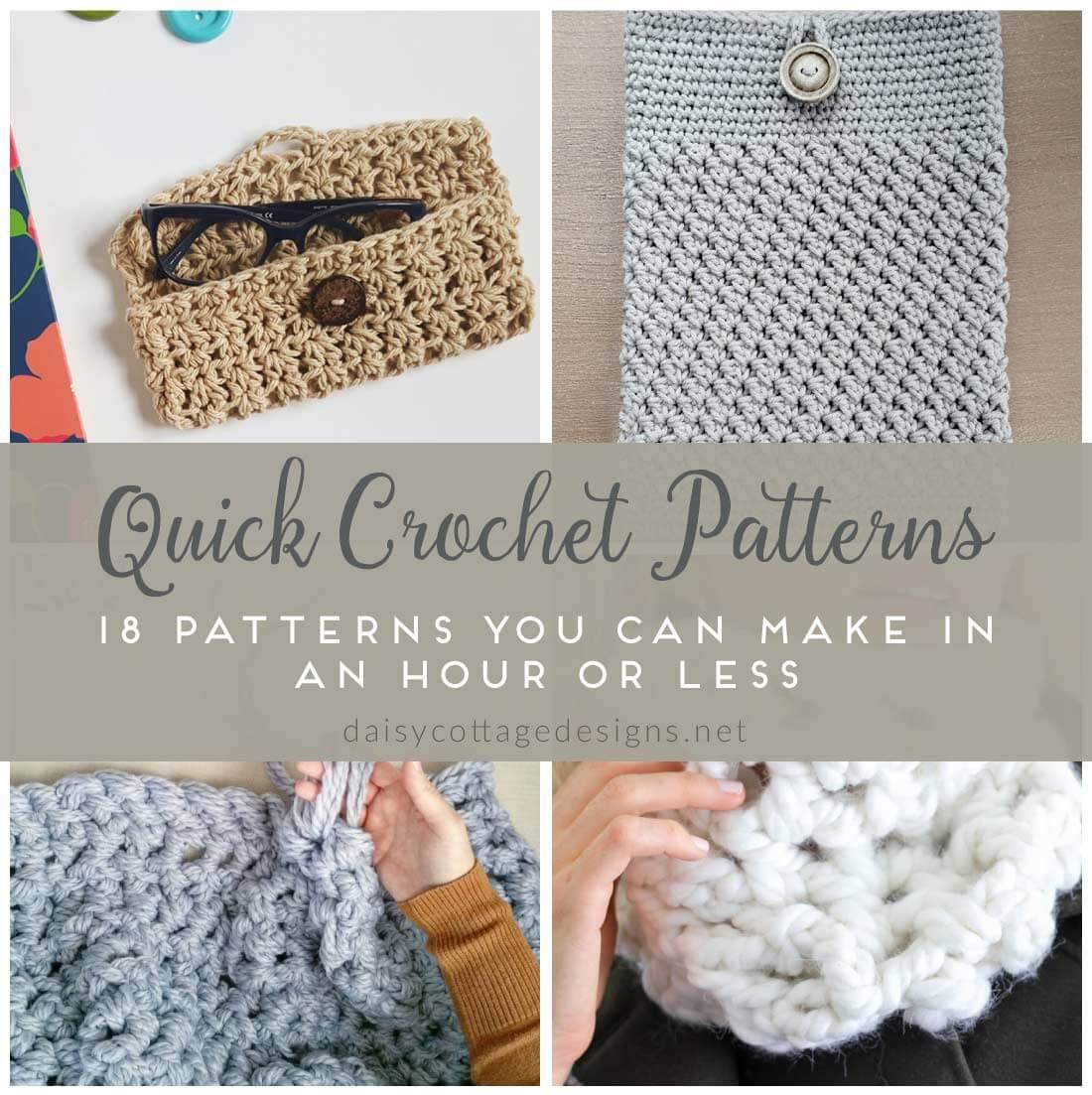 easy crochet patterns | quick crochet patterns | fast crochet projects | fdcdikt