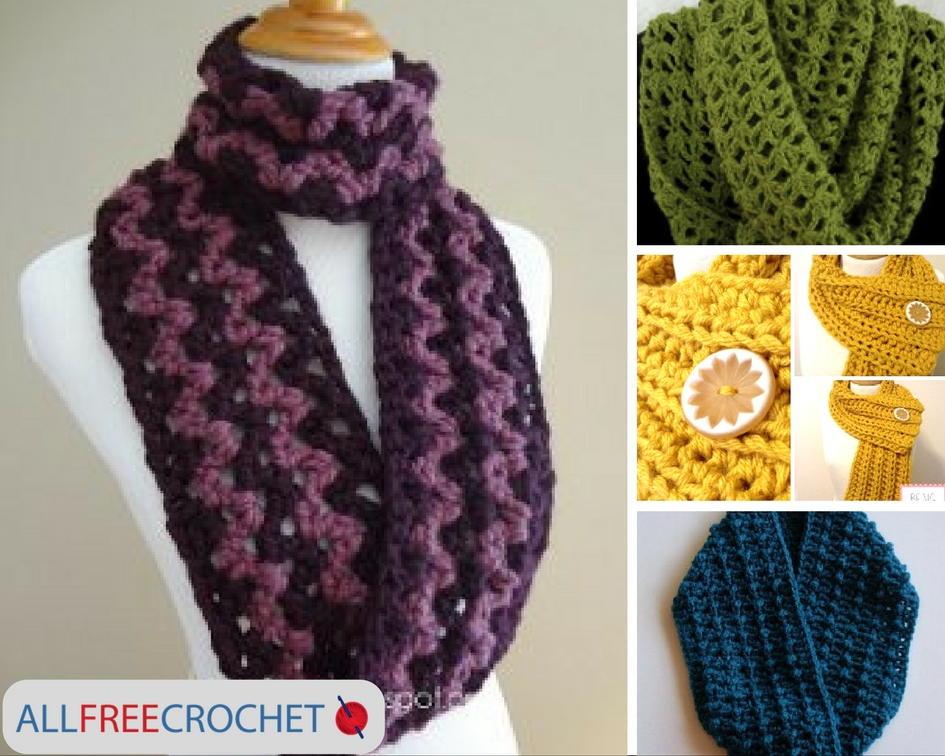 easy crochet scarf 19 quick and easy crochet scarves | allfreecrochet.com lfeeadr