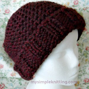 easy knitting patterns easy knit hat - second easiest hat pattern orxerio