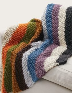 easy knitting projects simple striped seed stitch afghan arkshvo