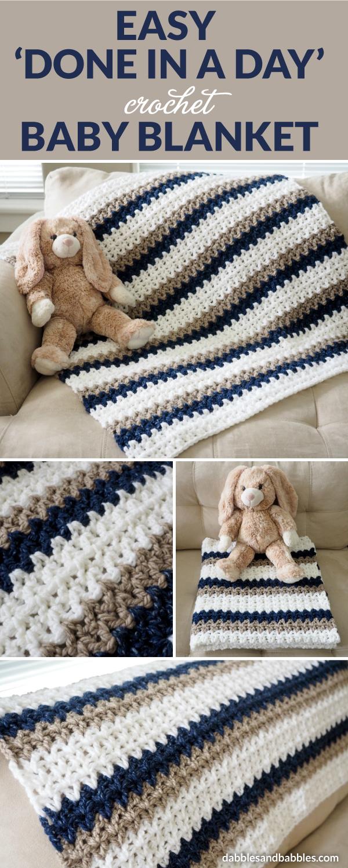 easy u0027done in a dayu0027 crochet baby blanket gvizfrl