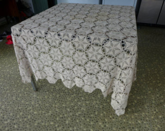 elegant fine handmade crochet tablecloth agomhoc