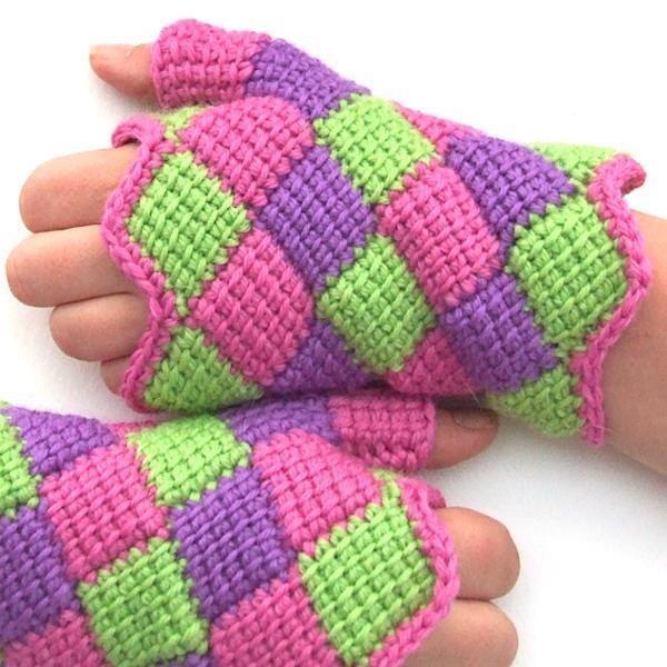 Fabrics made out of Entrelac Crochet