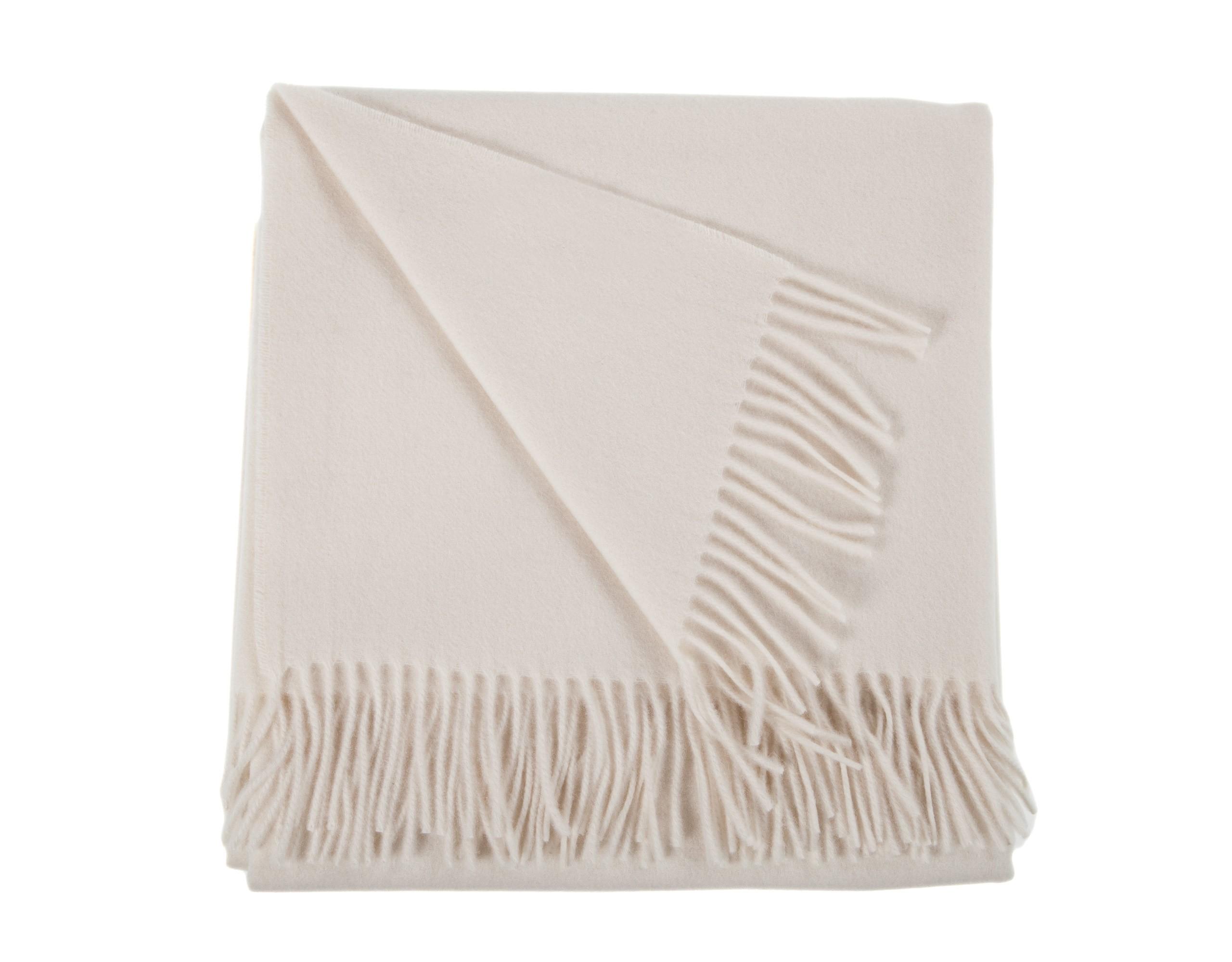 everest cashmere throw - natural cream ctqrthm