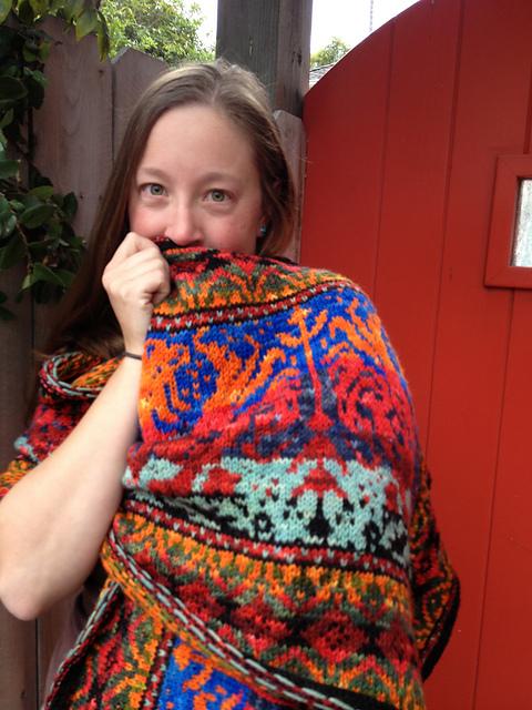 Fair Isle Knitting dragon ride shawl ... ajxnkjs