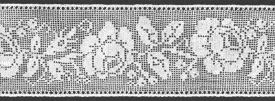 filet crochet patterns wide rose insertion filet crochet pattern amxzhfr