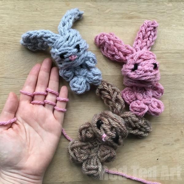 Finger Knitting easy finger knitting how to smvwgcs