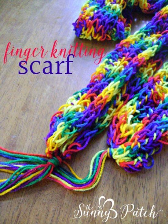 Finger Knitting finger knitted scarf vkumhfk