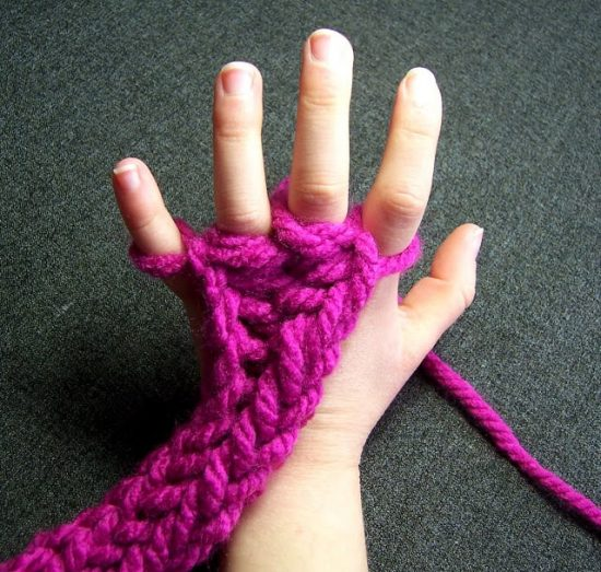 Finger Knitting finger knitting instructions flsrhmn