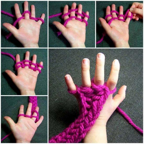 Finger Knitting finger knitting instructions txjvjfu