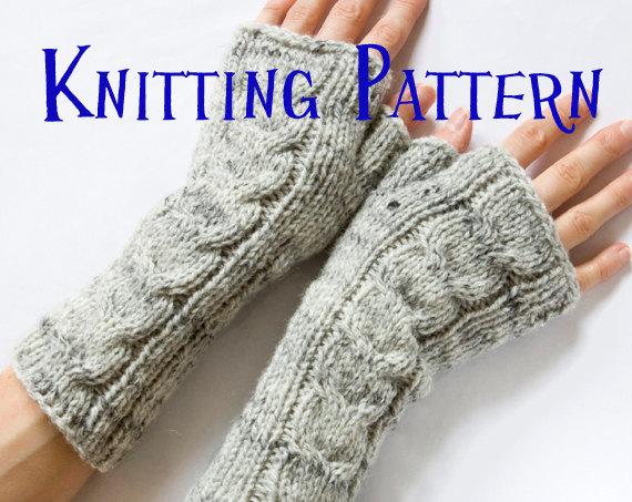 fingerless gloves knitting pattern instant download pdf knitting pattern - cabled fingerless mittens, cabled fingerless  gloves, duyqbsi