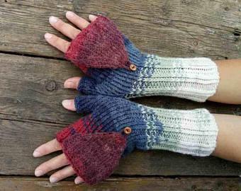 fingerless mittens large colored unisex knit texting gloves mittens gray white xl red women fingerless xoivpik