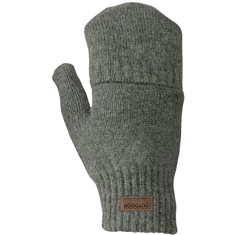 fingerless mittens outdoor research - lost coast fingerless mitten - menu0027s - pewter xqxeyht