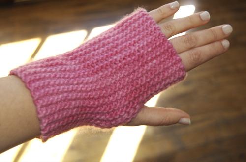 first fingerless mittens smrthmm