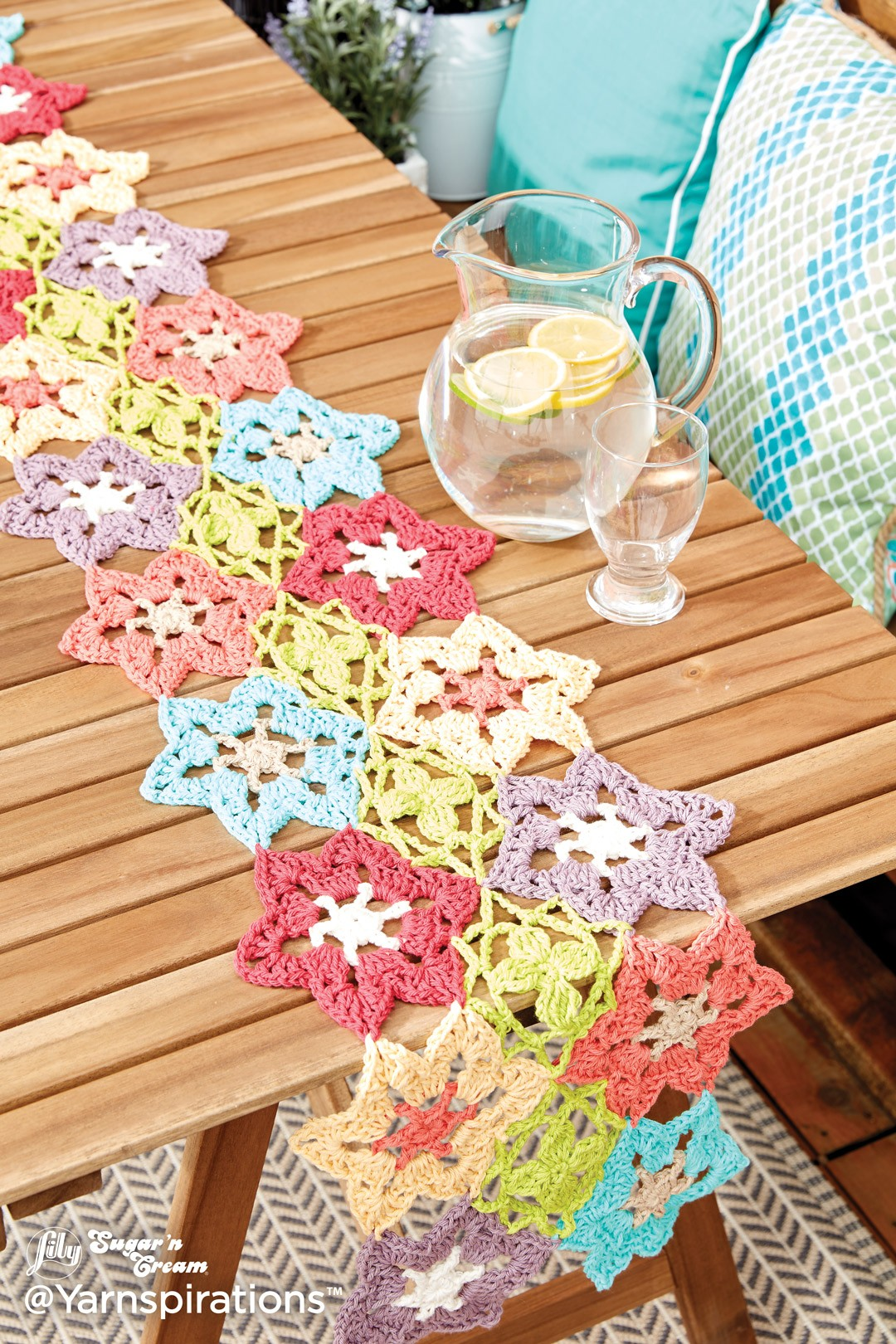 flower power crochet table runner glsctul