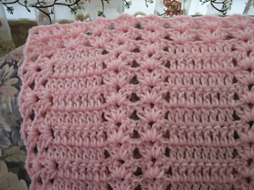 free afghan crochet patterns pink moscato double shell ... saodfsm