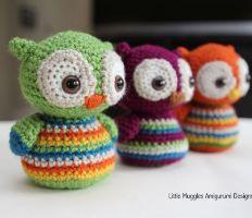 free amigurumi patterns lovely little stripy owl with adorable big eyes. free crochet pattern ... dracmzm