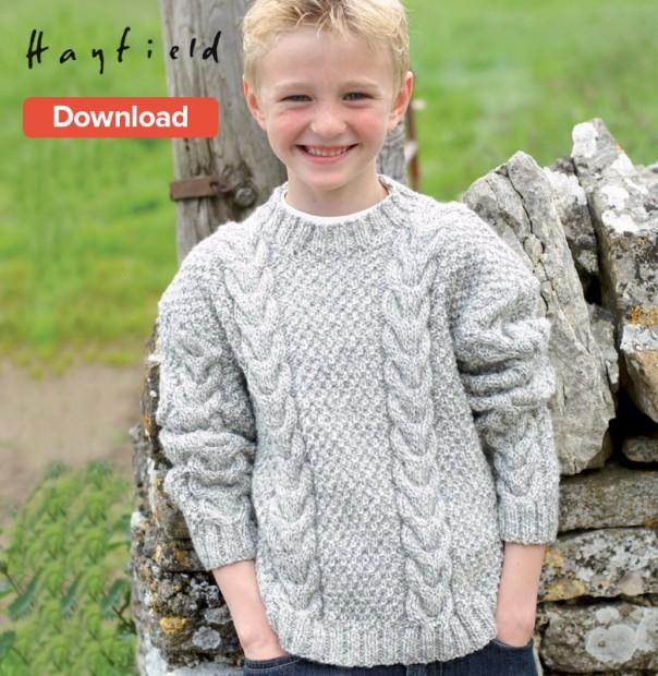 free aran knitting patterns hayfield free pattern pxqgtfb