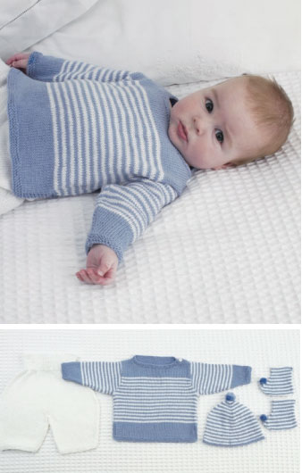 free baby knitting patterns free-knitting-pattern-baby-top-pants-hat-and- sduakqr