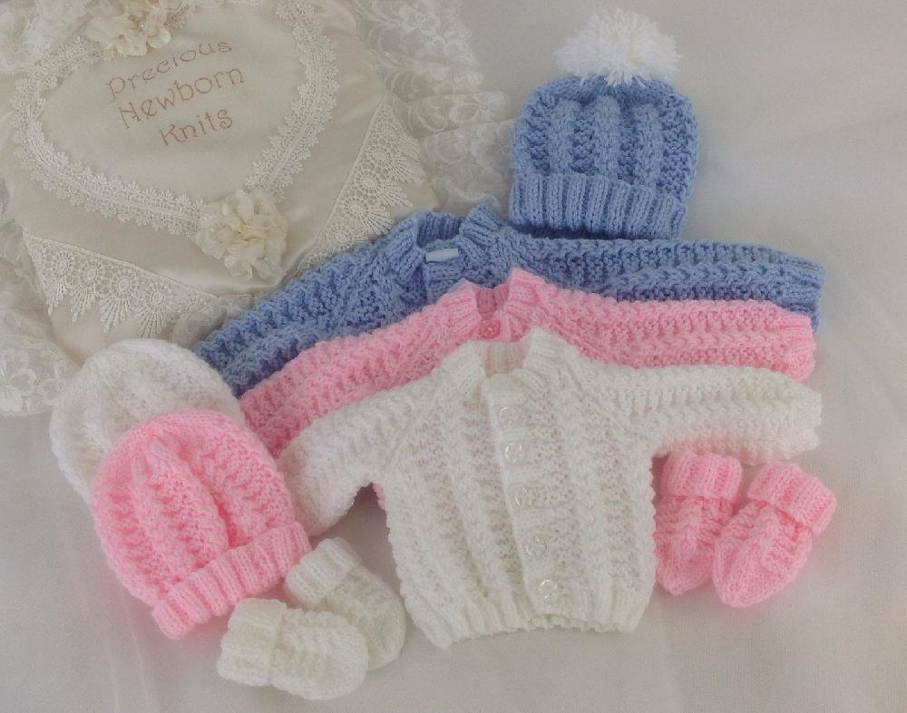 free baby knitting patterns pattern 54 babies cosy cardigan set - sizes: early baby u0026 0-3 months ckvtqyl