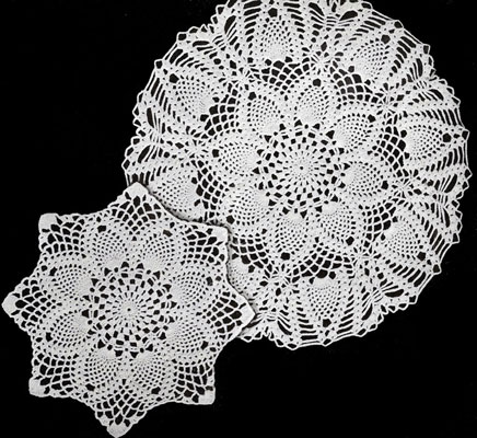 free crochet doily patterns pineapples large and small doily patterns oenjttk