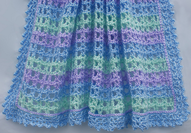 free crochet patterns for baby blankets ravelry: striped lace crochet baby blanket pattern by amy solovay pvffwkg