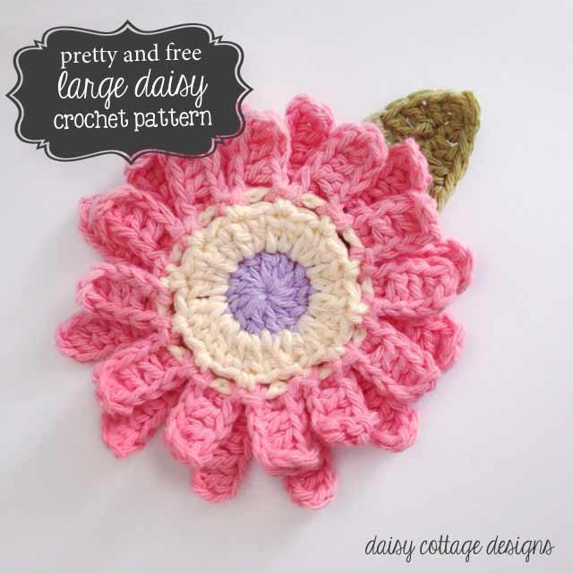 Free crochet patterns large flower crochet pattern pwhxjxc