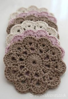 free easy crochet patterns for beginners   crochet coaster, beautiful  crochet and atcorxh