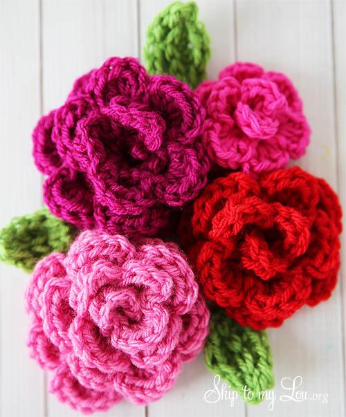 How to make Crochet Roses