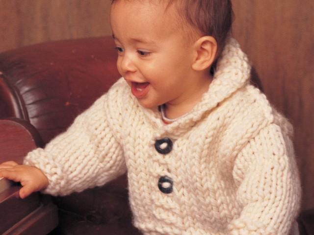 Free Knitting Patterns For Children babies shawl neck cardigan knitting pattern sotoclc