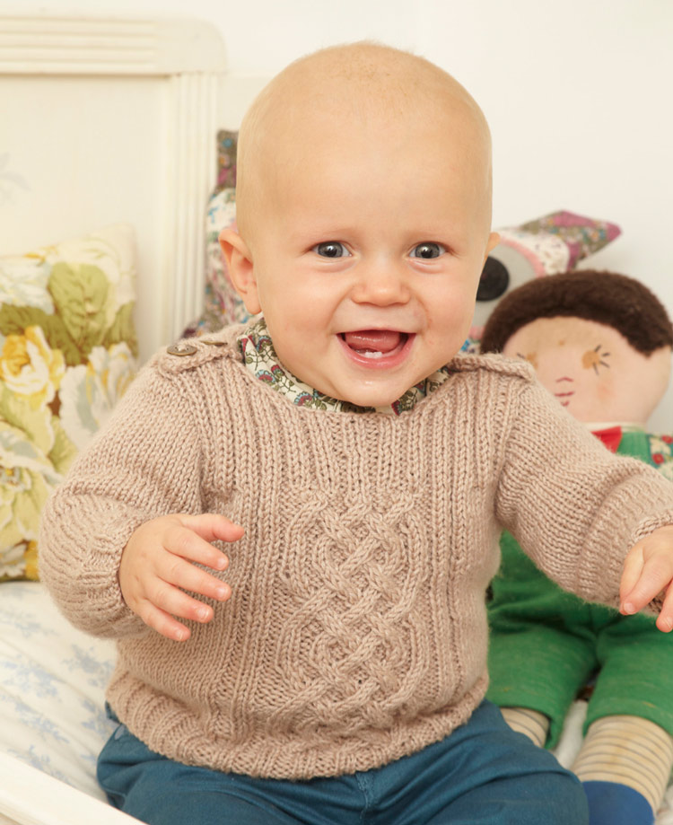 Free Knitting Patterns For Children free childrens cable panelled sweater knitting pattern qflrmon